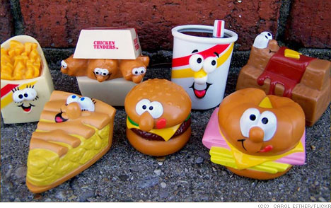 Plastic-fast-food-toys